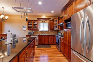 open kitchen in home for sale